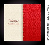 vintage background  antique red ... | Shutterstock .eps vector #137727413