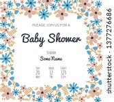 set of baby shower invitation... | Shutterstock .eps vector #1377276686