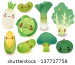 fruit and vegetable collection  ... | Shutterstock .eps vector #137727758