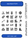 recreation icon set. 25 filled...   Shutterstock .eps vector #1377305519