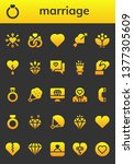 marriage icon set. 26 filled... | Shutterstock .eps vector #1377305609
