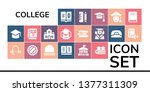 college icon set. 19 filled... | Shutterstock .eps vector #1377311309