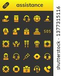 assistance icon set. 26 filled... | Shutterstock .eps vector #1377315116