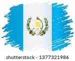 flag of guatemala  republic of... | Shutterstock .eps vector #1377321986