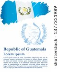 flag of guatemala  republic of... | Shutterstock .eps vector #1377321989