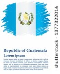 flag of guatemala  republic of... | Shutterstock .eps vector #1377322016