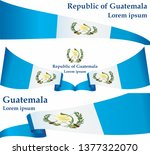 flag of guatemala  republic of... | Shutterstock .eps vector #1377322070