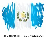 flag of guatemala  republic of... | Shutterstock .eps vector #1377322100
