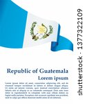 flag of guatemala  republic of... | Shutterstock .eps vector #1377322109