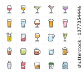 icon set   glass and beverage... | Shutterstock .eps vector #1377354446