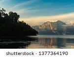 beautiful mountain landscape...   Shutterstock . vector #1377364190