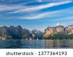 beautiful mountain landscape...   Shutterstock . vector #1377364193