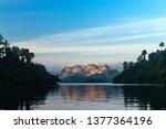 beautiful mountain landscape...   Shutterstock . vector #1377364196