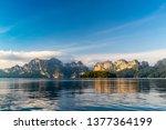 beautiful mountain landscape...   Shutterstock . vector #1377364199