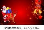 illustration of santa claus... | Shutterstock . vector #137737463