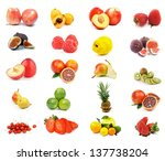 fruits collection with apples ... | Shutterstock . vector #137738204