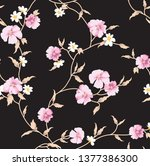 cute floral pattern in the... | Shutterstock .eps vector #1377386300