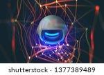 global computer monitoring... | Shutterstock . vector #1377389489