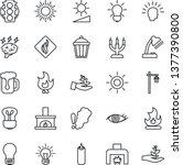 thin line icon set   sun vector ... | Shutterstock .eps vector #1377390800