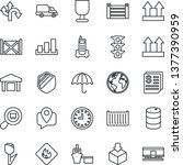thin line icon set   route... | Shutterstock .eps vector #1377390959