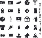 solid vector icon set   glass... | Shutterstock .eps vector #1377396140