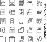 thin line icon set   office... | Shutterstock .eps vector #1377397466
