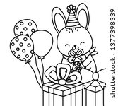 cute little animal cartoon | Shutterstock .eps vector #1377398339