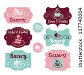 set of vintage bakery labels.... | Shutterstock .eps vector #137740004