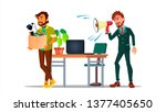 character leaving workplace... | Shutterstock .eps vector #1377405650