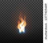 realistic burning brush fire...   Shutterstock .eps vector #1377405689