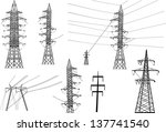 illustration with electric... | Shutterstock . vector #137741540