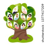 family genealogical tree. flat... | Shutterstock .eps vector #1377417209