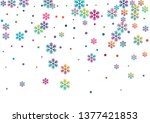 crystal snowflake and circle... | Shutterstock .eps vector #1377421853