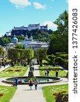salzburg austria may 2nd 2017...   Shutterstock . vector #1377426083
