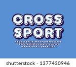 vector logotype cross sport... | Shutterstock .eps vector #1377430946