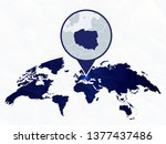 poland detailed map highlighted ... | Shutterstock .eps vector #1377437486