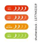 hot red pepper strength scale....   Shutterstock .eps vector #1377442319