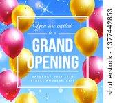 grand opening invitation banner ...   Shutterstock .eps vector #1377442853