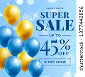 sale banner with balloons....   Shutterstock .eps vector #1377442856