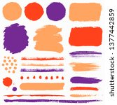 paint brush strokes and grunge...   Shutterstock .eps vector #1377442859