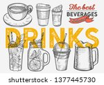 drink illustration   coffee ... | Shutterstock .eps vector #1377445730