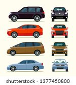 cars side view and front view.... | Shutterstock .eps vector #1377450800
