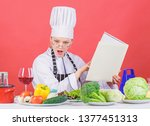 girl read book best culinary... | Shutterstock . vector #1377451313