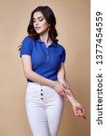 sexy beautiful woman fashion... | Shutterstock . vector #1377454559