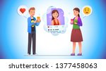 cheerful young man giving like... | Shutterstock .eps vector #1377458063