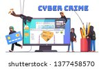 hackers and cyber criminals... | Shutterstock .eps vector #1377458570