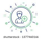 add user line icon. profile...   Shutterstock .eps vector #1377460166