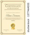 certificate of appreciation... | Shutterstock .eps vector #1377464033