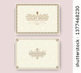 invitation  business card or... | Shutterstock .eps vector #1377468230