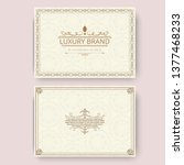 invitation  business card or... | Shutterstock .eps vector #1377468233